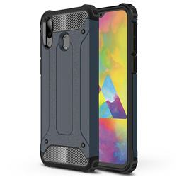 King Kong Armor Premium Shockproof Dual Layer Rugged Hard Cover for Samsung Galaxy M20 - Navy