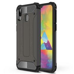 King Kong Armor Premium Shockproof Dual Layer Rugged Hard Cover for Samsung Galaxy M20 - Bronze