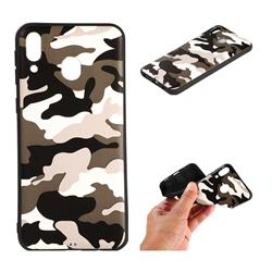 Camouflage Soft TPU Back Cover for Samsung Galaxy M20 - Black White