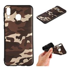 Camouflage Soft TPU Back Cover for Samsung Galaxy M20 - Gold Coffee