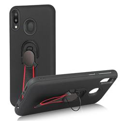 Raytheon Multi-function Ribbon Stand Back Cover for Samsung Galaxy M20 - Black
