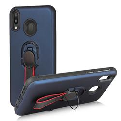 Raytheon Multi-function Ribbon Stand Back Cover for Samsung Galaxy M20 - Blue