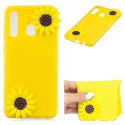 Yellow Sunflower Soft 3D Silicone Case for Samsung Galaxy M20