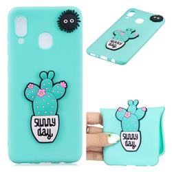 Cactus Flower Soft 3D Silicone Case for Samsung Galaxy M20