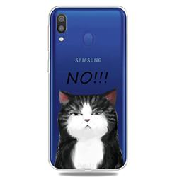 Cat Say No Clear Varnish Soft Phone Back Cover for Samsung Galaxy M20