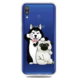 Selfie Dog Clear Varnish Soft Phone Back Cover for Samsung Galaxy M20