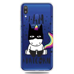 Batman Clear Varnish Soft Phone Back Cover for Samsung Galaxy M20