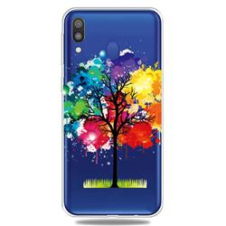 Oil Painting Tree Clear Varnish Soft Phone Back Cover for Samsung Galaxy M20