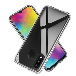 Transparent 2 in 1 Drop-proof Cell Phone Back Cover for Samsung Galaxy M20