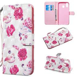 Flamingo 3D Painted Leather Wallet Phone Case for Samsung Galaxy M20