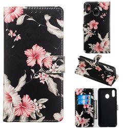 Azalea Flower PU Leather Wallet Case for Samsung Galaxy M20
