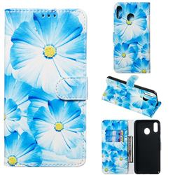Orchid Flower PU Leather Wallet Case for Samsung Galaxy M20