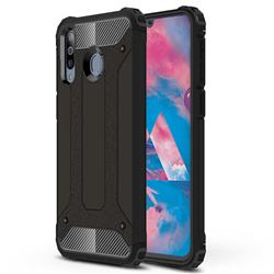 King Kong Armor Premium Shockproof Dual Layer Rugged Hard Cover for Samsung Galaxy M30 - Black Gold
