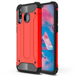 King Kong Armor Premium Shockproof Dual Layer Rugged Hard Cover for Samsung Galaxy M30 - Big Red