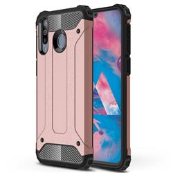 King Kong Armor Premium Shockproof Dual Layer Rugged Hard Cover for Samsung Galaxy M30 - Rose Gold