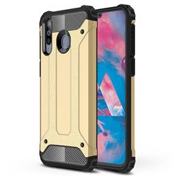 King Kong Armor Premium Shockproof Dual Layer Rugged Hard Cover for Samsung Galaxy M30 - Champagne Gold