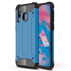 King Kong Armor Premium Shockproof Dual Layer Rugged Hard Cover for Samsung Galaxy M30 - Sky Blue