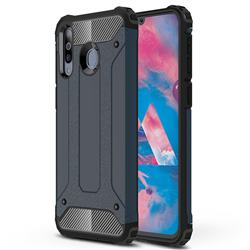 King Kong Armor Premium Shockproof Dual Layer Rugged Hard Cover for Samsung Galaxy M30 - Navy