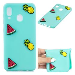Watermelon Pineapple Soft 3D Silicone Case for Samsung Galaxy M30