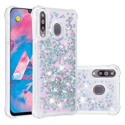 Dynamic Liquid Glitter Sand Quicksand Star TPU Case for Samsung Galaxy M30 - Silver