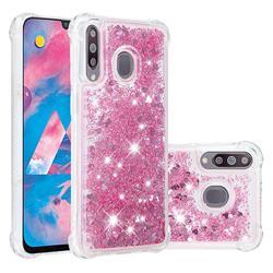 Dynamic Liquid Glitter Sand Quicksand Star TPU Case for Samsung Galaxy M30 - Diamond Rose