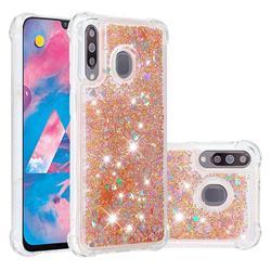 Dynamic Liquid Glitter Sand Quicksand Star TPU Case for Samsung Galaxy M30 - Diamond Gold