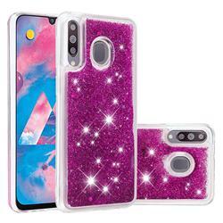 Dynamic Liquid Glitter Quicksand Sequins TPU Phone Case for Samsung Galaxy M30 - Purple