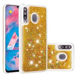 Dynamic Liquid Glitter Quicksand Sequins TPU Phone Case for Samsung Galaxy M30 - Golden