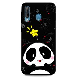 Cute Bear 3D Embossed Relief Black TPU Cell Phone Back Cover for Samsung Galaxy M30
