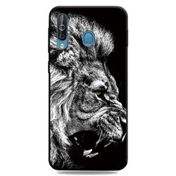 Lion 3D Embossed Relief Black TPU Cell Phone Back Cover for Samsung Galaxy M30