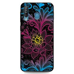 Colorful Lace 3D Embossed Relief Black TPU Cell Phone Back Cover for Samsung Galaxy M30