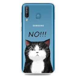Cat Say No Clear Varnish Soft Phone Back Cover for Samsung Galaxy M30