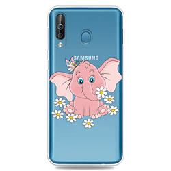 Tiny Pink Elephant Clear Varnish Soft Phone Back Cover for Samsung Galaxy M30