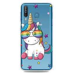 Glasses Unicorn Clear Varnish Soft Phone Back Cover for Samsung Galaxy M30