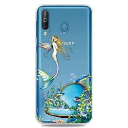 Mermaid Clear Varnish Soft Phone Back Cover for Samsung Galaxy M30