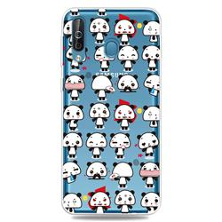 Mini Panda Clear Varnish Soft Phone Back Cover for Samsung Galaxy M30