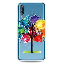 Oil Painting Tree Clear Varnish Soft Phone Back Cover for Samsung Galaxy M30