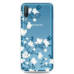 Magnolia Flower Clear Varnish Soft Phone Back Cover for Samsung Galaxy M30