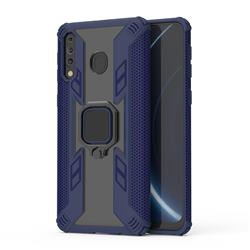 Predator Armor Metal Ring Grip Shockproof Dual Layer Rugged Hard Cover for Samsung Galaxy M30 - Blue
