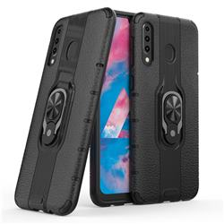 Alita Battle Angel Armor Metal Ring Grip Shockproof Dual Layer Rugged Hard Cover for Samsung Galaxy M30 - Black