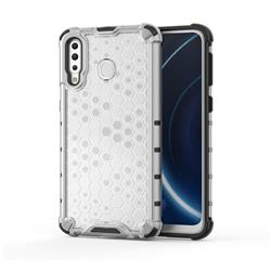 Honeycomb TPU + PC Hybrid Armor Shockproof Case Cover for Samsung Galaxy M30 - Transparent
