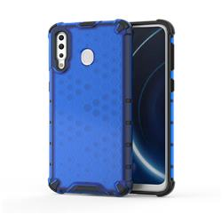 Honeycomb TPU + PC Hybrid Armor Shockproof Case Cover for Samsung Galaxy M30 - Blue