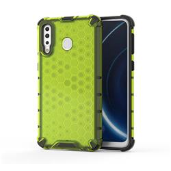 Honeycomb TPU + PC Hybrid Armor Shockproof Case Cover for Samsung Galaxy M30 - Green