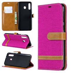 Jeans Cowboy Denim Leather Wallet Case for Samsung Galaxy M30 - Rose