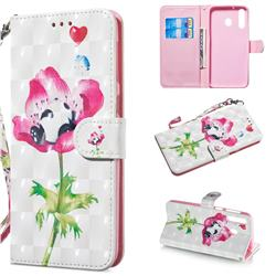 Flower Panda 3D Painted Leather Wallet Phone Case for Samsung Galaxy M30