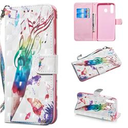 Music Pen 3D Painted Leather Wallet Phone Case for Samsung Galaxy M30