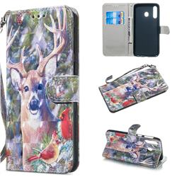 Elk Deer 3D Painted Leather Wallet Phone Case for Samsung Galaxy M30