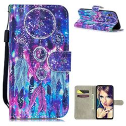 Star Wind Chimes 3D Painted Leather Wallet Phone Case for Samsung Galaxy M30