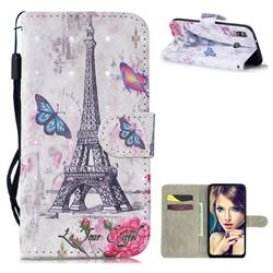 Paris Tower 3D Painted Leather Wallet Phone Case for Samsung Galaxy M30
