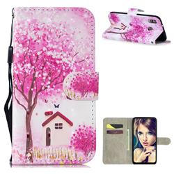 Tree House 3D Painted Leather Wallet Phone Case for Samsung Galaxy M30